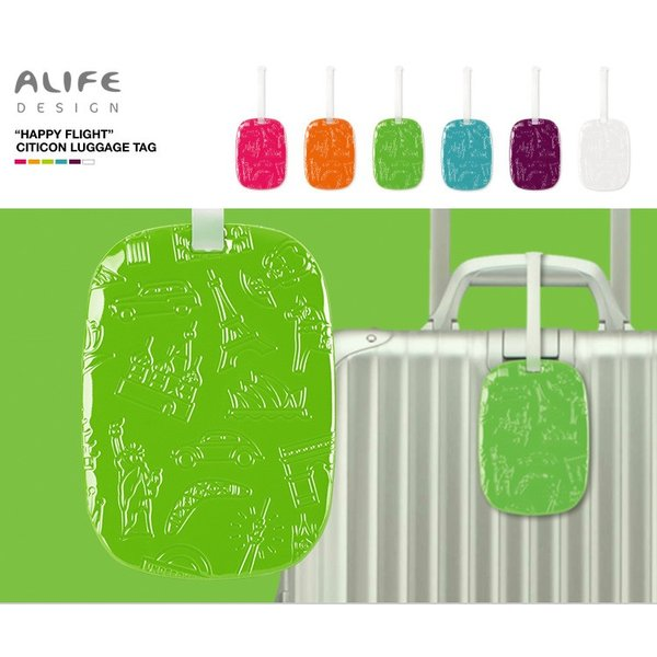 ALIFE Happy Flight CITICON LUGGAGE TAG(ハッピーフライト シティコン ラゲージタグ)/アリフデザイン/在庫有/メール便可|flaner-y|04