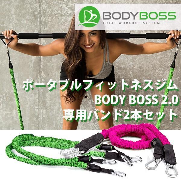 正規販売店 BODY BOSS 2,0 専用バンド 2本セット ボディボス ポータブル フィットネスジム(GROW)/在庫有|flaner-y