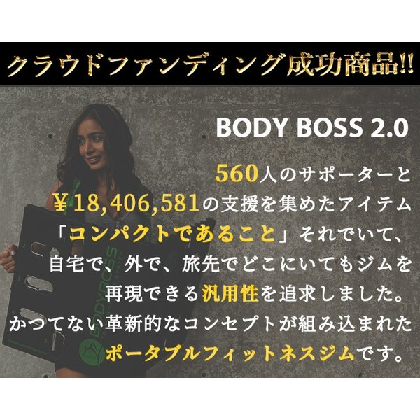 正規販売店 BODY BOSS 2,0 専用バンド 2本セット ボディボス ポータブル フィットネスジム(GROW)/在庫有|flaner-y|02