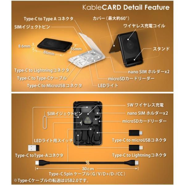 正規販売店 kable CARD ケーブルカード 6種の充電ケーブルやSIM収納などカードサイズに12の機能(ACS)/メール便無料/在庫有(1)|flaner-y|11