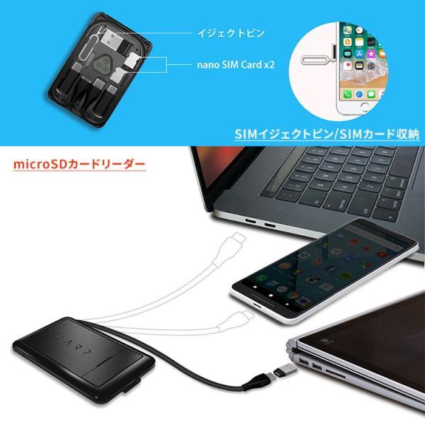 正規販売店 kable CARD ケーブルカード 6種の充電ケーブルやSIM収納などカードサイズに12の機能(ACS)/メール便無料/在庫有(1)|flaner-y|06