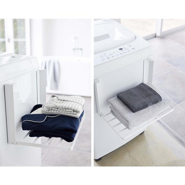 洗濯機横 マグネット 折り畳み棚 タワー Magnetbat Folding Rack Tower/山崎実業株式会社/海外×/在庫有|flaner-y|07