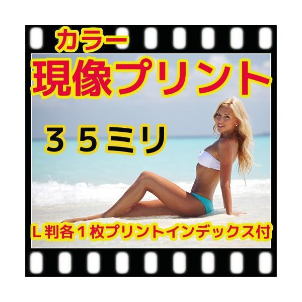 35ミリ フィルム現像+L判各1枚プリント+インデックス「写ルンですOK」