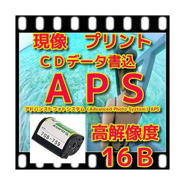 APS限定 フィルム現像 +L判各1枚プリント+CD書込   高解像度16Bでデータ保存 +Wインデックス 「APS写ルンですOK」