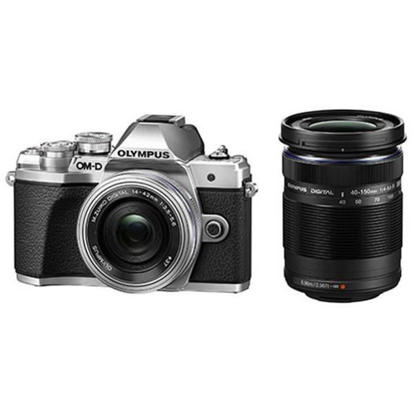 デジタルカメラ ミラーレス一眼 OM-D E-M10 Mark III EZダブルズームキット OLYMPUS オリンパス シルバー OMDEM10M3DZK-SLV ◆宅