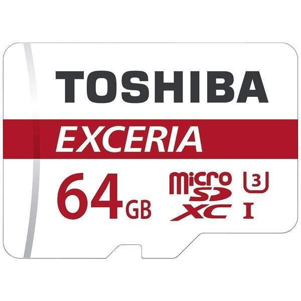 ◇ 【64GB】 TOSHIBA 東芝 EXCERIA microSDXCカード CLASS10 UHS-I対応 R:90MB/s 海外リテール THN-M302R0640C4 ◆メ|flashmemory