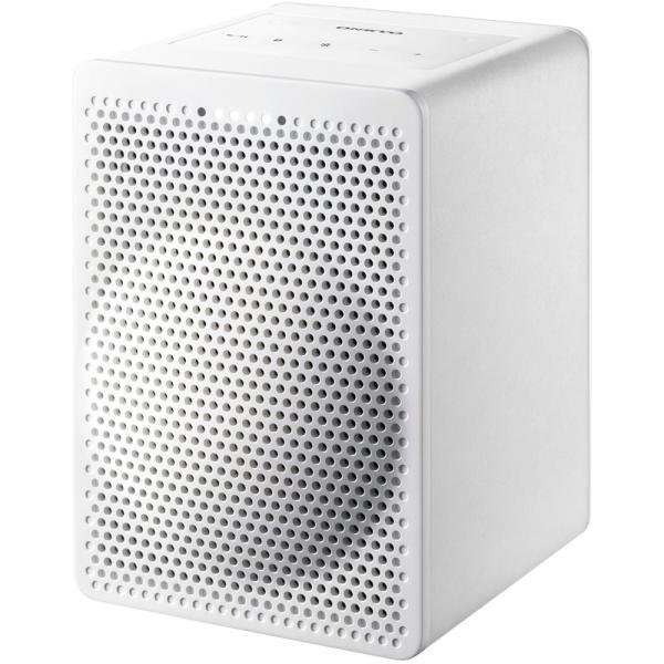 スマートホーム対応ワイヤレススピーカー ONKYO オンキョー Bluetooth Googleアシスタント搭載 Smart Speaker G3 ホワイト VC-GX30-W ◆宅