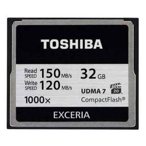 32GB 東芝/TOSHIBA EXCERIA 1000倍速コンパクトフラッシュ UDMA7対応 最大R:150MB/s /W:120MB/s 海外パッケージ CF-032GTR8A ◆メ flashmemory