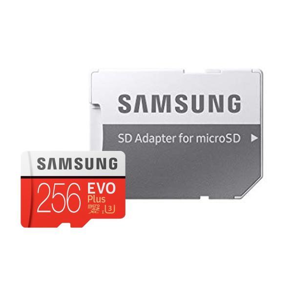 256GB microSDXCカード マイクロSD Samsung サムスン EVO Plus UHS-1 U3 R:100MB/s W:90MB/s 4K SDアダプタ付 海外リテール MB-MC256GA/CN ◆メ