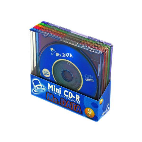 300枚まとめ買い☆MR.DATA 8cmCD-Rデータ用185MB(21分) CMC  Mini CD-R21(MIX) 1PX5**