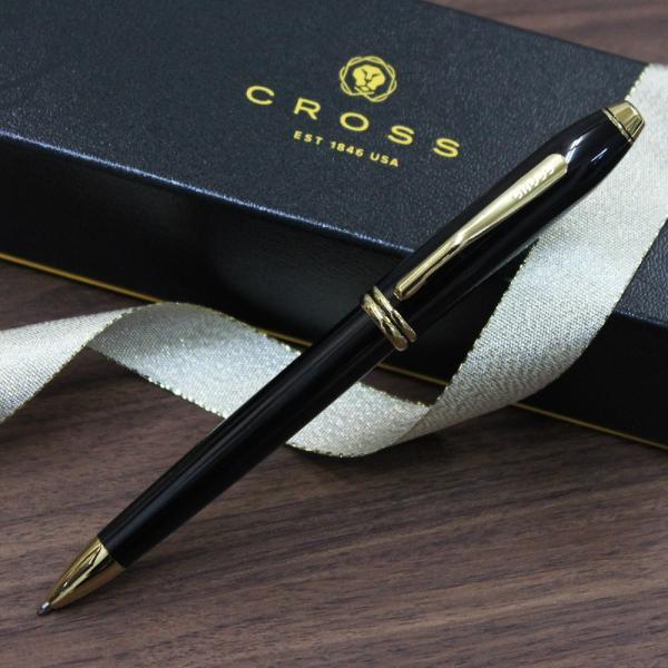 【名入れボールペン】CROSS(クロス) タウンゼント ボールペン ブラックラッカー  記念 クリスマスプレゼント ギフト