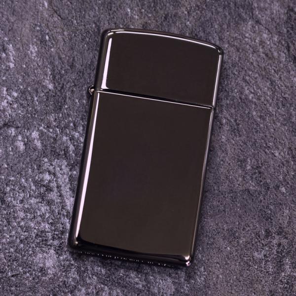 ZIPPO ジッポライター SLIM BLACK ICE(スリム ブラックアイス) 無地 ジッポー ライター #20492 クリスマス プレゼント