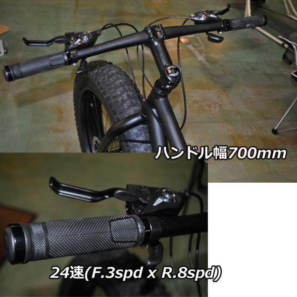 ファットバイク ブロンクス FATBIKE BRONX /BRONX TR 26inch / MATTE BLACK x BLACK/ ディスクブレーキ 26インチ/日本正規販売品/|fleaboardshop|06