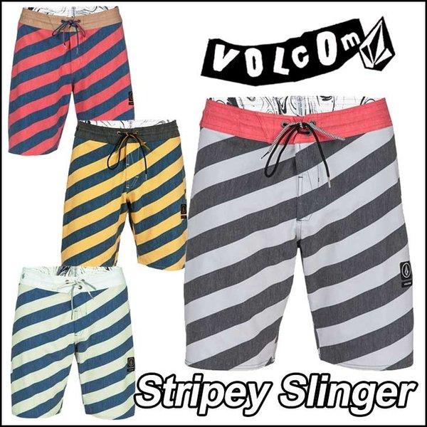 volcom  ボルコム メンズ サーフパンツ  海パン 水着 【Stripey Slinger 】 19インチ LENGTH VOLCOM ボードショーツ 【返品種別】