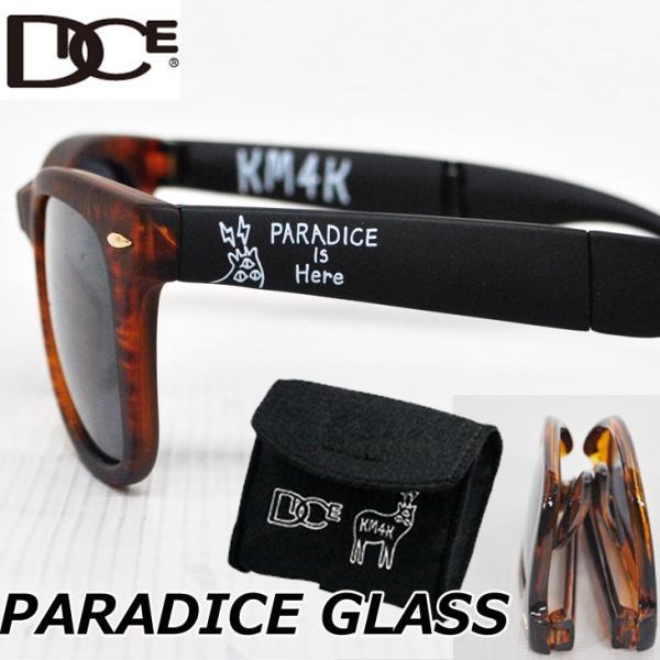 DICE ダイス 折りたたみ サングラス DICExKM4K カモシカ コラボ PARADICE GLASS ミラー/偏光|fleaboardshop