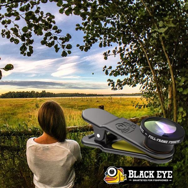 black eye ブラックアイ 180°フルフレームフィッシュアイ  クリップ式  BLACKEYE FULL FRAME FISHEYE 【魚眼】FF001|fleaboardshop