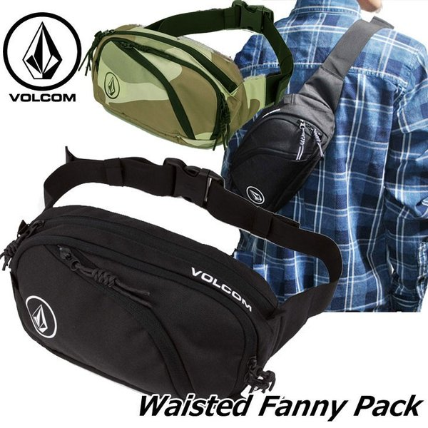 volcom ボルコム ウエストバッグ  Waisted Fanny Pack  D6511650|fleaboardshop