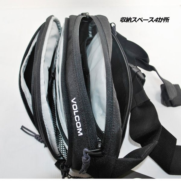 volcom ボルコム ウエストバッグ  Waisted Fanny Pack  D6511650|fleaboardshop|03