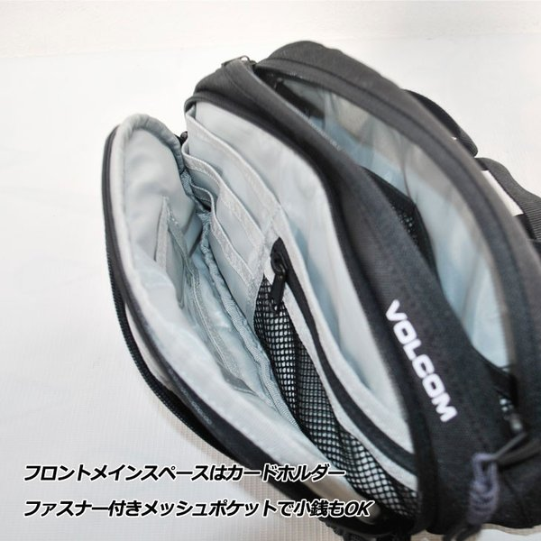 volcom ボルコム ウエストバッグ  Waisted Fanny Pack  D6511650|fleaboardshop|04