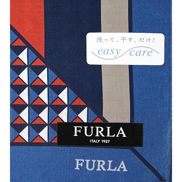 bef222e4e957 ... 父の日 フルラ FURLA ハンカチ ギフト 幾何学 メンズ ブランド 綿大判 紳士 男性 誕生 ...