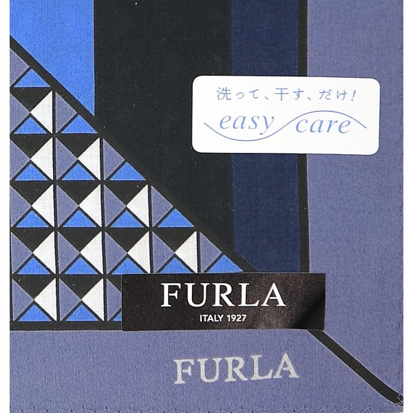 59b83da0df6e 父の日 フルラ FURLA ハンカチ ギフト 幾何学 メンズ ブランド 綿大判 紳士 男性 誕生