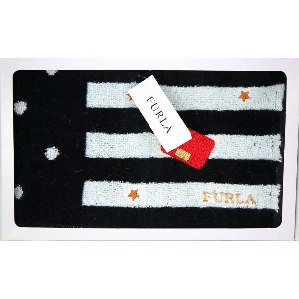 FURLA フルラ タオルハンカチ ハンドタオル ドット ストライプ 箱入 ギフト 女性 誕生日 プレゼント お礼 お返し お祝い メール便可|fleur-de-camelia2|02