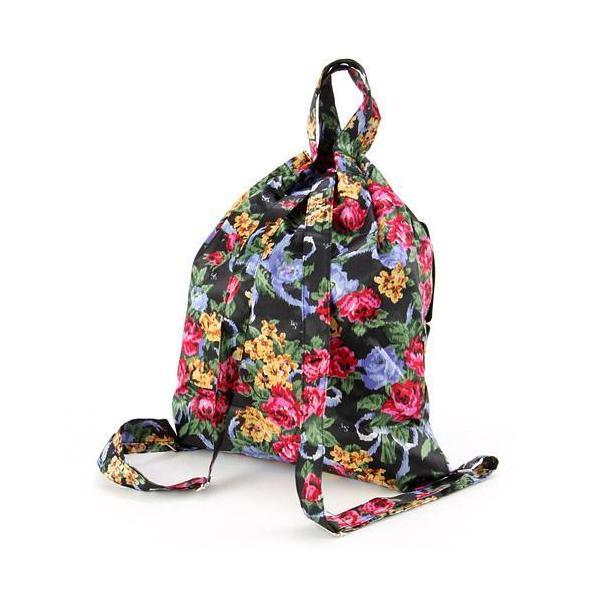 リュック 軽量 大容量 折りたたみ 花柄 コンパクト プチプラ 旅行 トラベル レジャー アウトドア 買い物 メール便可|fleur-de-camelia2|07
