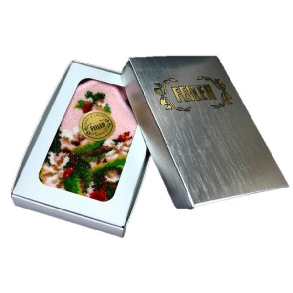 FEILER フェイラー ロゴ箱入 タオル ハンカチ ハンドタオル ジャスミン ブランド ギフト 女性 誕生日 プレゼント お礼 お返し お祝い|fleur-de-camelia2