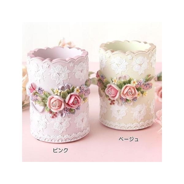 ペンスタンド  ローズブーケ メイクブラシスタンド 姫系雑貨 レディース ギフト 女性 誕生日プレゼント お礼 お返し お祝い