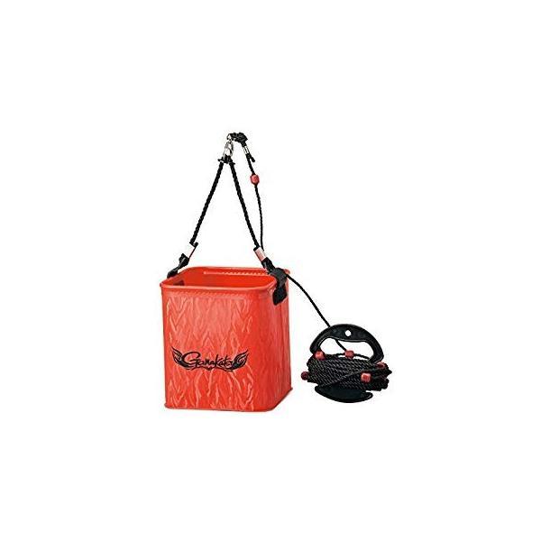 がまかつ(Gamakatsu) バッカン 水汲みバケツ (ロープ巻付) 小 レッド GM-2440