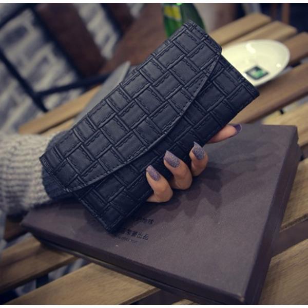 【SALE】シンプル長財布 カードケース付 三つ折り 名刺入れ レディース メンズ|flexgear|02