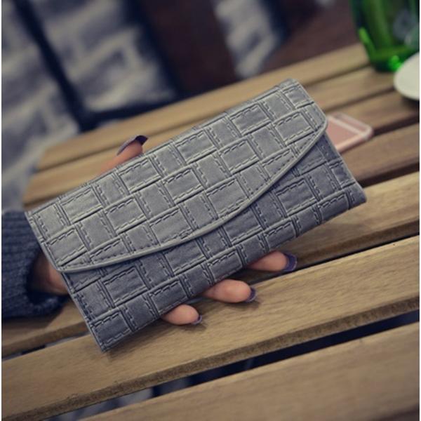 【SALE】シンプル長財布 カードケース付 三つ折り 名刺入れ レディース メンズ|flexgear|03