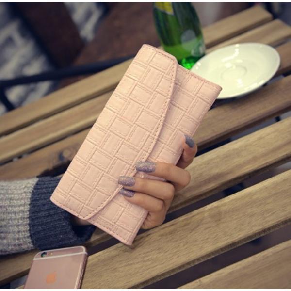 【SALE】シンプル長財布 カードケース付 三つ折り 名刺入れ レディース メンズ|flexgear|04