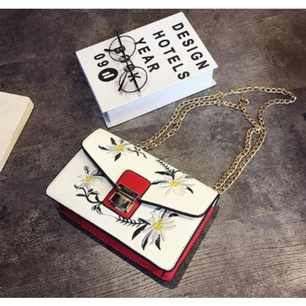 【SALE】花刺繍ハンドバッグ チェーン 花柄 刺繍 ショルダーバッグ ミニ レディース|flexgear|04