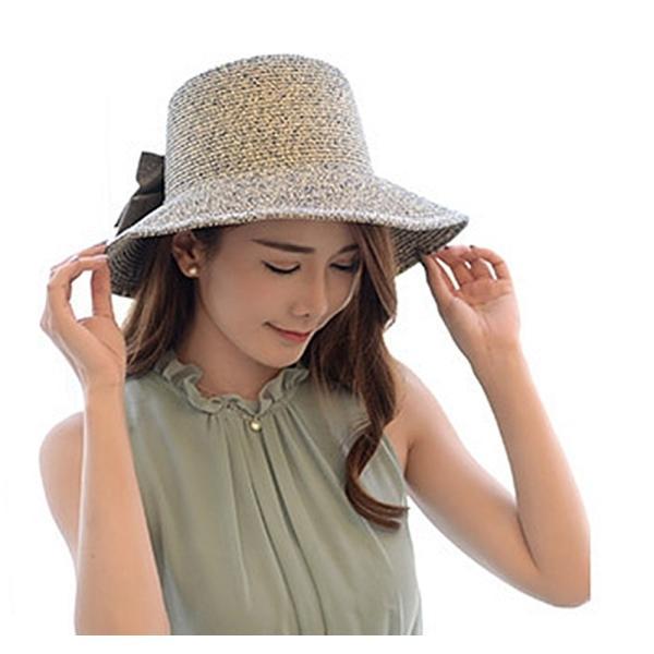 【SALE】麦わら帽子 ハット 折りたたみ 帽子 ストローハット UVカット レディース flexgear 05