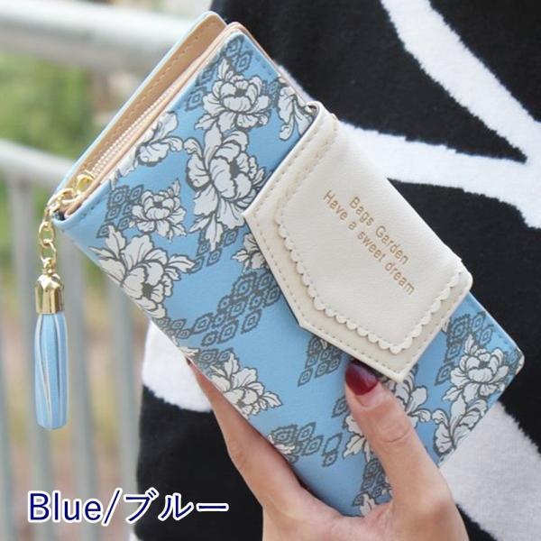 【SALE】レディース 長財布 多機能 カード入れ ボタニカル 花柄 和柄 ハワイアン さいふ サイフ|flexgear|07