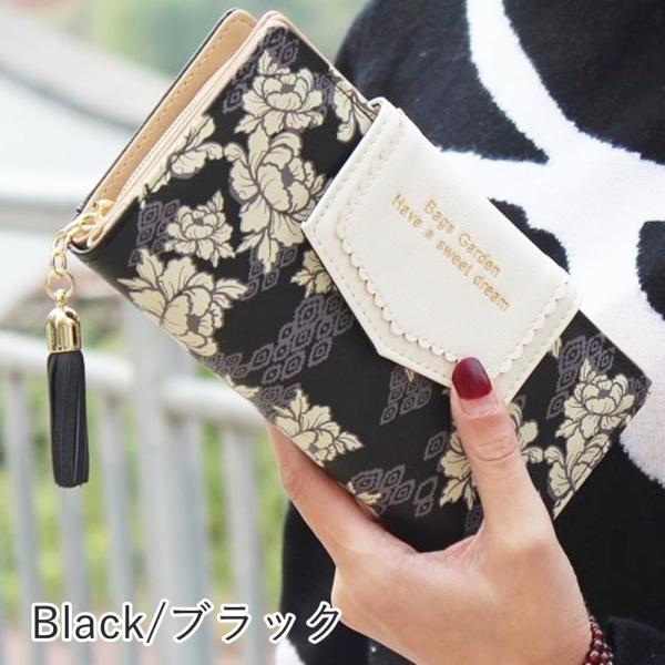【SALE】レディース 長財布 多機能 カード入れ ボタニカル 花柄 和柄 ハワイアン さいふ サイフ|flexgear|09