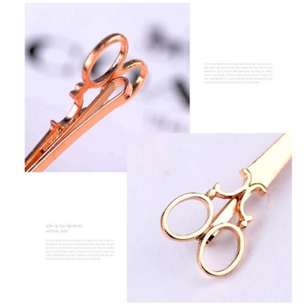 はさみ型ヘアピン 髪留め ゴールド シルバー 2色 セット ヘアピン ヘアアクセサリー|flexgear|03