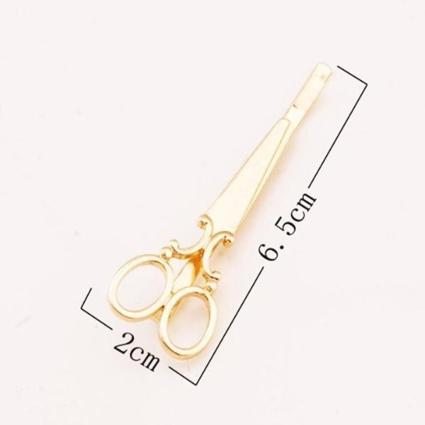 はさみ型ヘアピン 髪留め ゴールド シルバー 2色 セット ヘアピン ヘアアクセサリー|flexgear|04