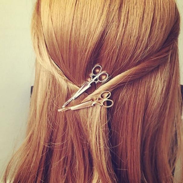 はさみ型ヘアピン 髪留め ゴールド シルバー 2色 セット ヘアピン ヘアアクセサリー|flexgear|05