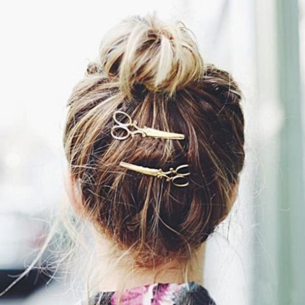 はさみ型ヘアピン 髪留め ゴールド シルバー 2色 セット ヘアピン ヘアアクセサリー|flexgear|06