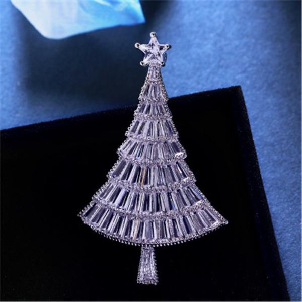 クリスマス ピン ブローチ クリスマスツリー レディース キラキラ ピンブローチ  X'mas xmas デート パーティー