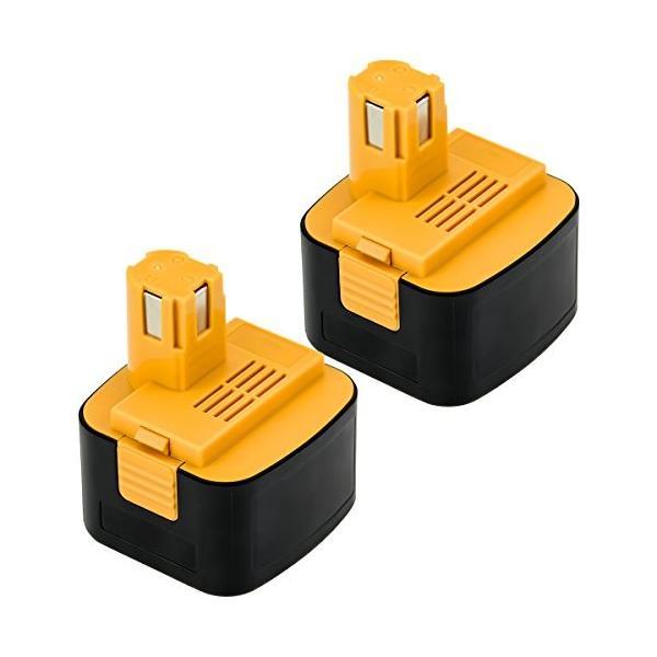 OKEY パナソニック互換バッテリー ey9200換バッテリー ez9200換バッテリー 3000mAh2個セット パナソニック12V 3.0Ah E