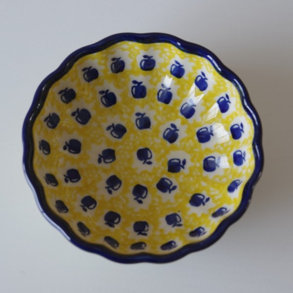 ポーランド食器 ポーリッシュポタリー ミニボウル 小鉢 12cm りんご柄 M94-ALC26 flohmarkt 03