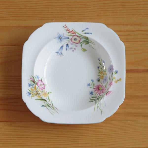 アンティーク食器 SHELLEY シェリー ワイルドフラワーズ スーププレート 深皿 17cm #190705-1~6|flohmarkt