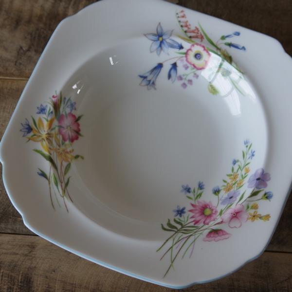 アンティーク食器 SHELLEY シェリー ワイルドフラワーズ スーププレート 深皿 17cm #190705-1~6|flohmarkt|02