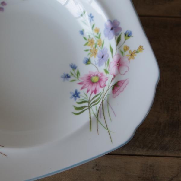 アンティーク食器 SHELLEY シェリー ワイルドフラワーズ スーププレート 深皿 17cm #190705-1~6|flohmarkt|03