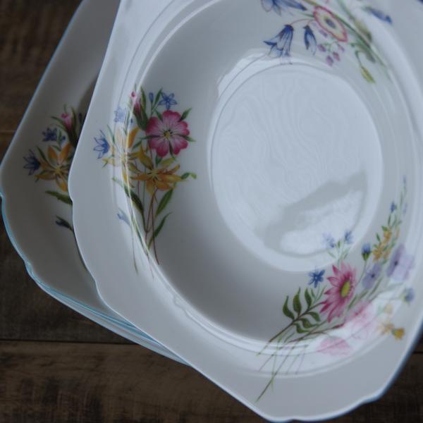アンティーク食器 SHELLEY シェリー ワイルドフラワーズ スーププレート 深皿 17cm #190705-1~6|flohmarkt|05
