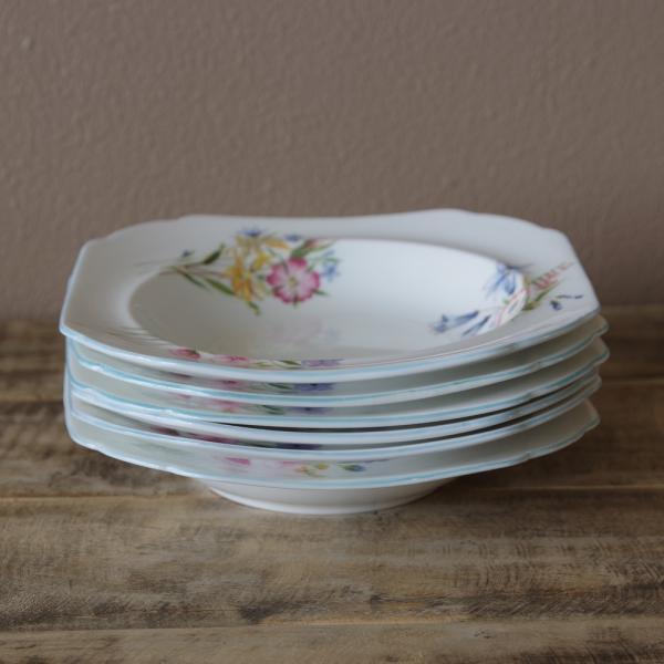 アンティーク食器 SHELLEY シェリー ワイルドフラワーズ スーププレート 深皿 17cm #190705-1~6|flohmarkt|06