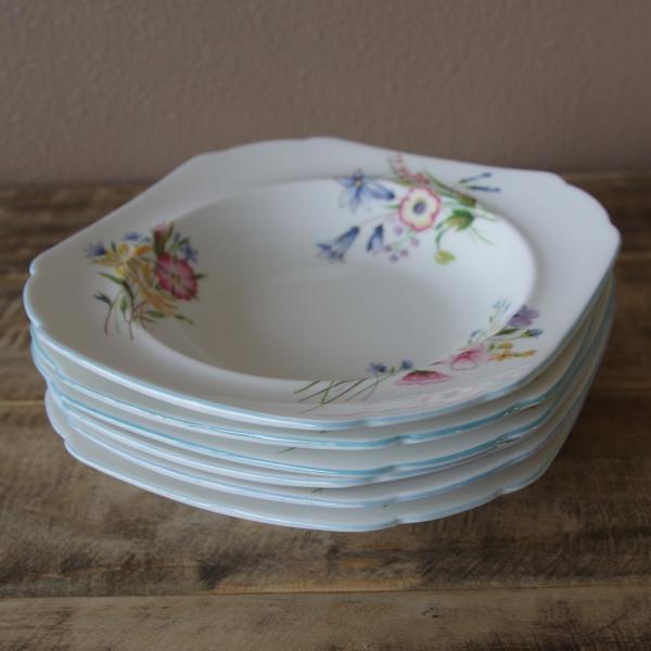 アンティーク食器 SHELLEY シェリー ワイルドフラワーズ スーププレート 深皿 17cm #190705-1~6|flohmarkt|07
